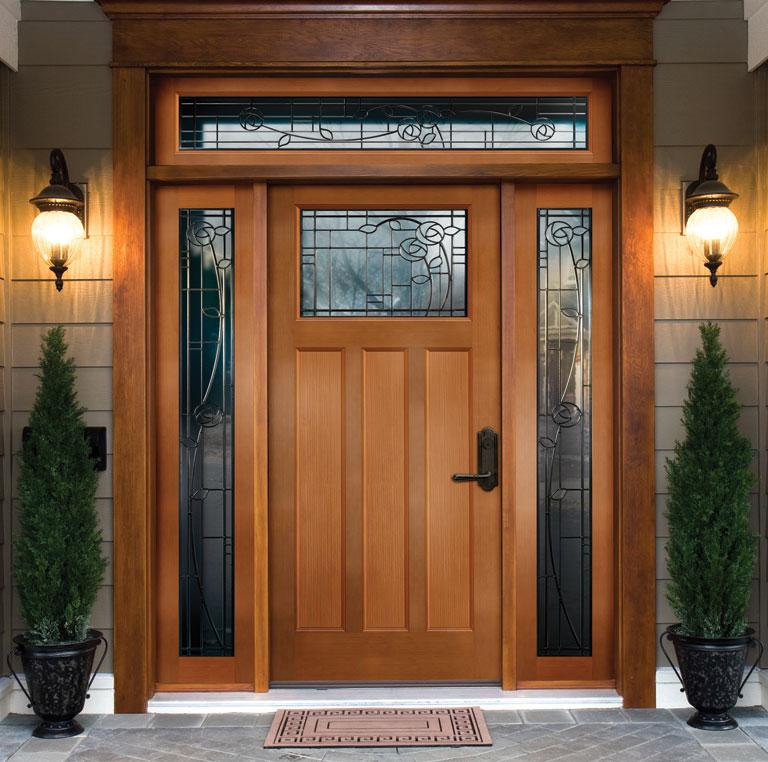 входные двери с окнами по бокам фото выставлено